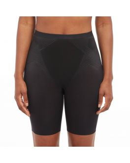 SPANX Thinstincts 2.0  Mid-Thigh Short SPX 10234R 99990 Very Black ._1