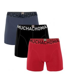 Muchachomalo 3pack Men short 1010Solid 336 red/black/blue