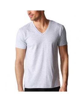 Mey Dry Cotton Colour V-neck shirt 46507 620 light grey_1