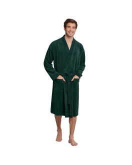 Schiesser bath robe 171973 702 dark green_2