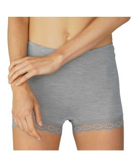 Mey Silk Wool Touch short 67001 466 mid grey melange_1