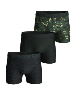 Bjorn Borg 3-pak herenboxers Digital Woodlands 2111-1085 81461 duck green