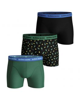 Bjorn Borg 3-pak Essential herenboxers Lemonsplash 2111-1158 90651 black beauty
