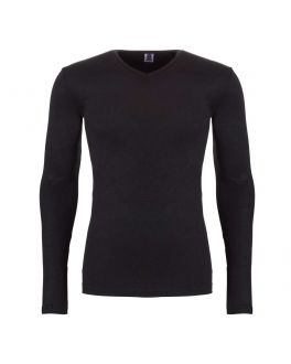 Ten Cate men thermo V-shirt LS 30246 090 black