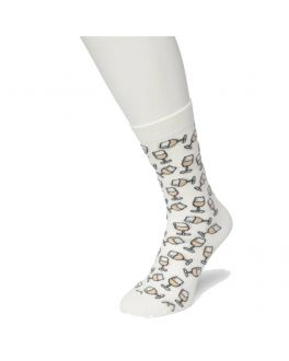 Bonnie Doon Wine Glass sock BT991121 bright white