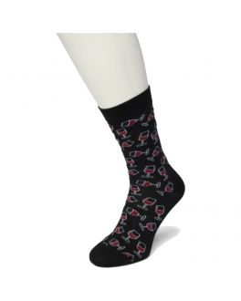 Bonnie Doon Wine Glass sock BT992121 anthracite