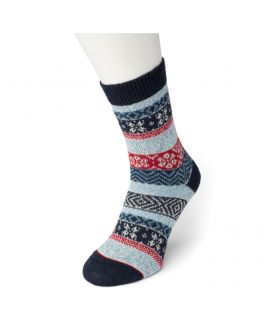 Bonnie Doon Folkloric sock  BP051129 light navy