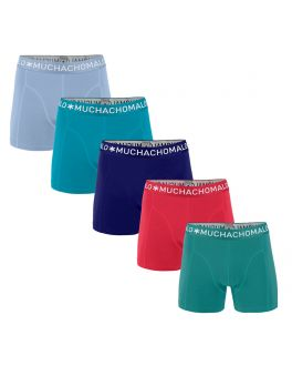 Muchachomalo Men 5-pak Light Cotton Solid  LCSolid1010 17 placid-ocean-blue-cobalt-azalea-tropical-gree
