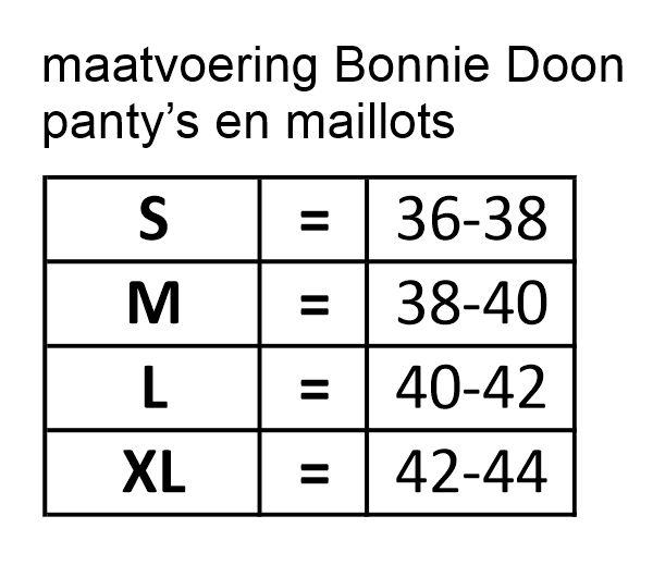 maatadvies Bonnie Doon maillots en panties